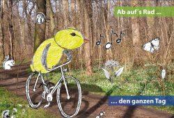 """Mit """"Luppi"""" auf dem Rad durch den Auwald. Foto: NABU"""