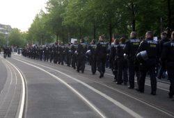 Immer wieder gibt es auch Sondereinsätze bei Demonstrationen in Leipzig. Foto: L-IZ.de
