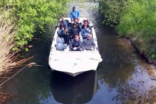 RanaBoot am 14. Mai im Floßgraben. Videostill / Autor: Olaf Maruhn