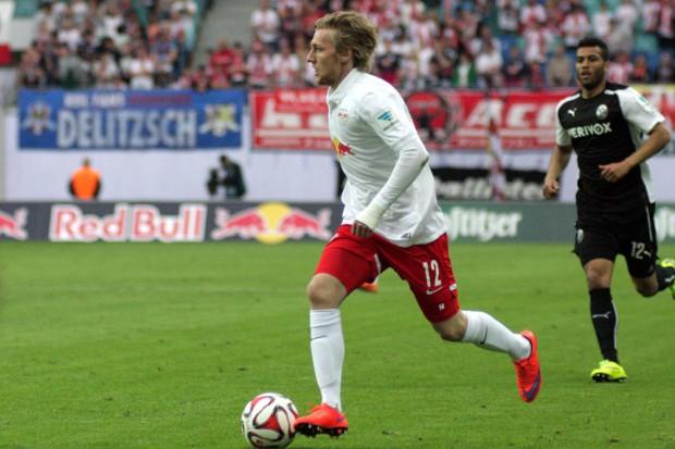 RB Stürmer Emil Forsberg versucht es erneut. Foto: Alexander Böhm