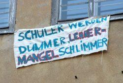 Kein Politiker in Sachsen kann sagen, er habe es nicht gewusst: Schülerprotest von 2012. Foto: Marko Hofmann