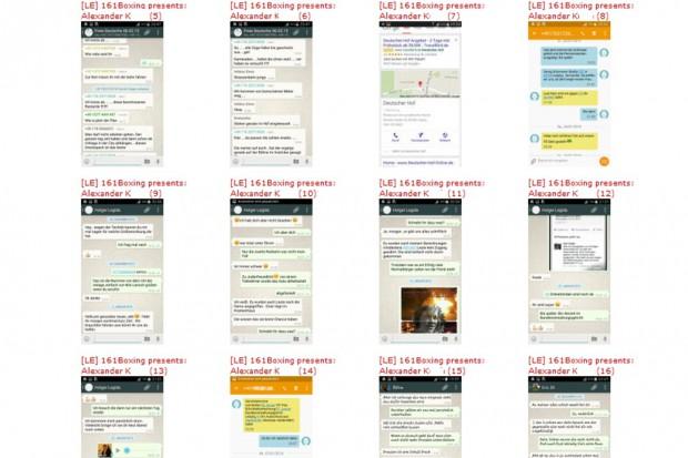 Diverse Chatprotokolle und Audiodateien sind seit gestern Abend online aufgetaucht. Bild: Screen der Screenshots auf Indymedia