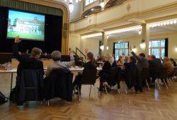 Abstimmung im Markkleeberger Stadtrat. Foto: Patrick Kulow