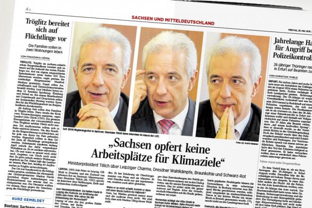 Das Tillich-Interview in der LVZ. Repro: L-IZ