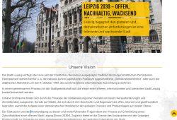 """Der neue Leipzig-Text auf der Website """"Wettbewerb Zukunftsstadt"""". Screenshot: L-iZ"""