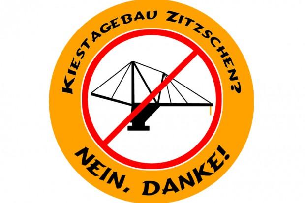 Logo der Initiative gegen den Kiesabbau bei Zitzschen.