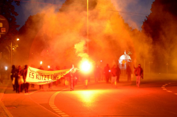 100 Menschen randalierten am 5. Juni in Leipzigs Innenstadt. Foto: Indymedia