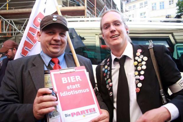 Die Partei DIE PARTEI ist wie immer mit dabei. Foto: L-IZ.de