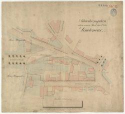 Situationsplan der Stadt Lindenau um 1890. Quelle: Stadtarchiv Leipzig