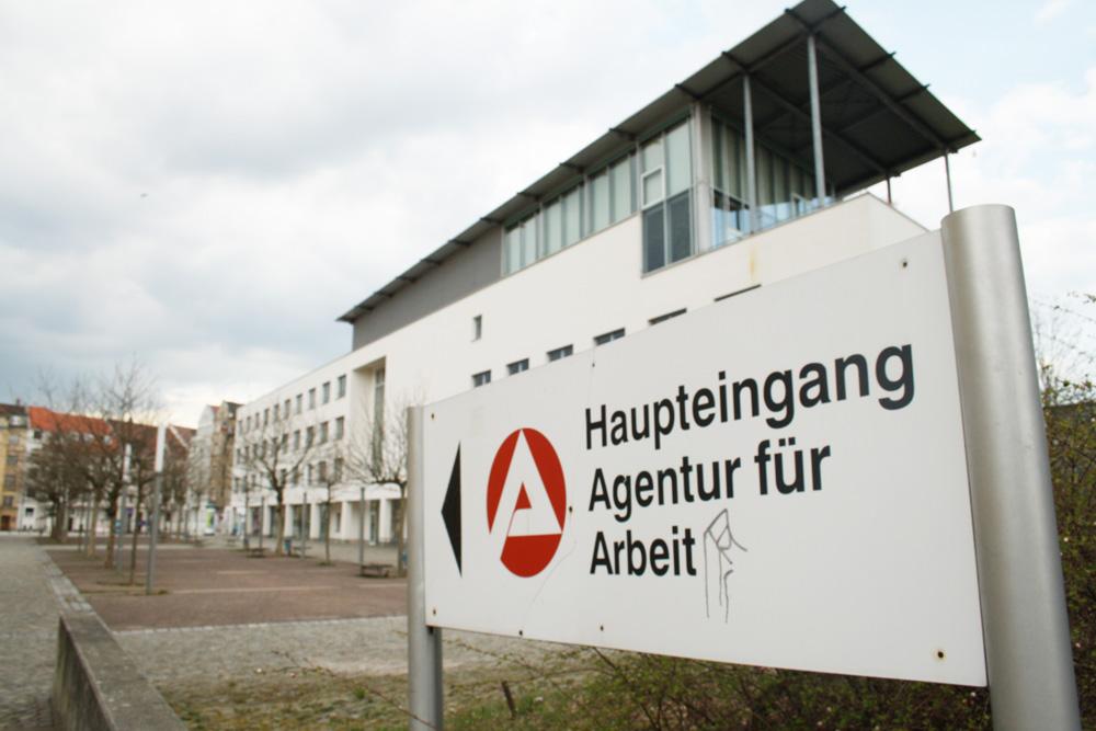 Hier geht's zur Arbeitsagentur Leipzig. Foto: Ralf Julke
