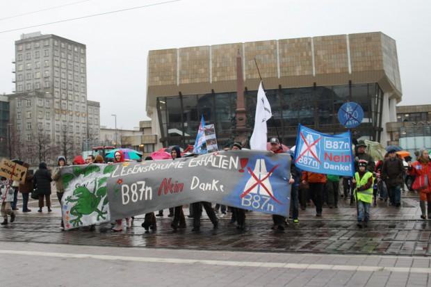 Demo im Januar 2012 auf dem Leipziger Augustusplatz. Foto: Ralf Julke