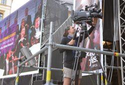 Stefanie Wirtz von floid bei der Liveübertragung beim Bachfest 2013. Foto: HTWK Leipzig