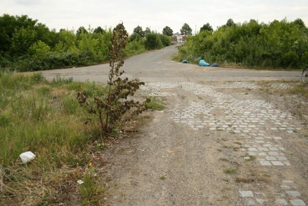 Dieses Prachtstück von Straße im Gelände sollte mal die Baumwollgasse werden. Foto: Ralf Julke