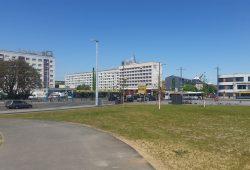 Blick auf die heutige DDR-Planungs-Tristesse am Bayrischen Platz. Foto: Marko Hofmann