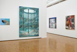 """Blick in die Ausstellung """"die bessere hälfte"""". Foto: Kunsthalle der Sparkasse"""