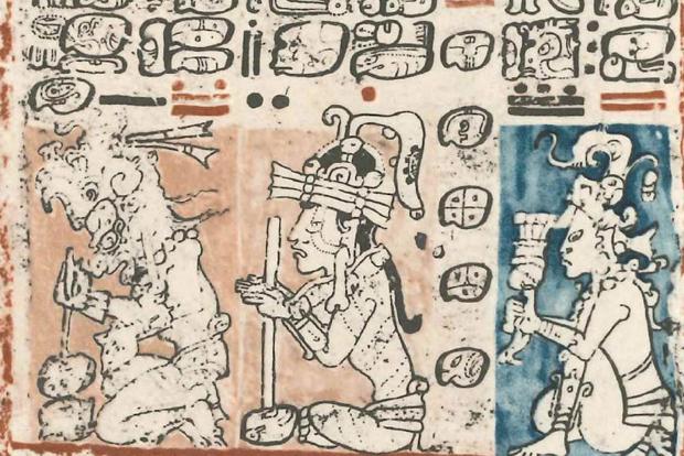 Auszug aus dem Codex Dresdensis. Foto: Grassi Museum