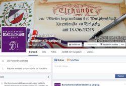 Facebook-Seite der Burschenschaft Dresdensia Leipzig. Foto: Screenshot