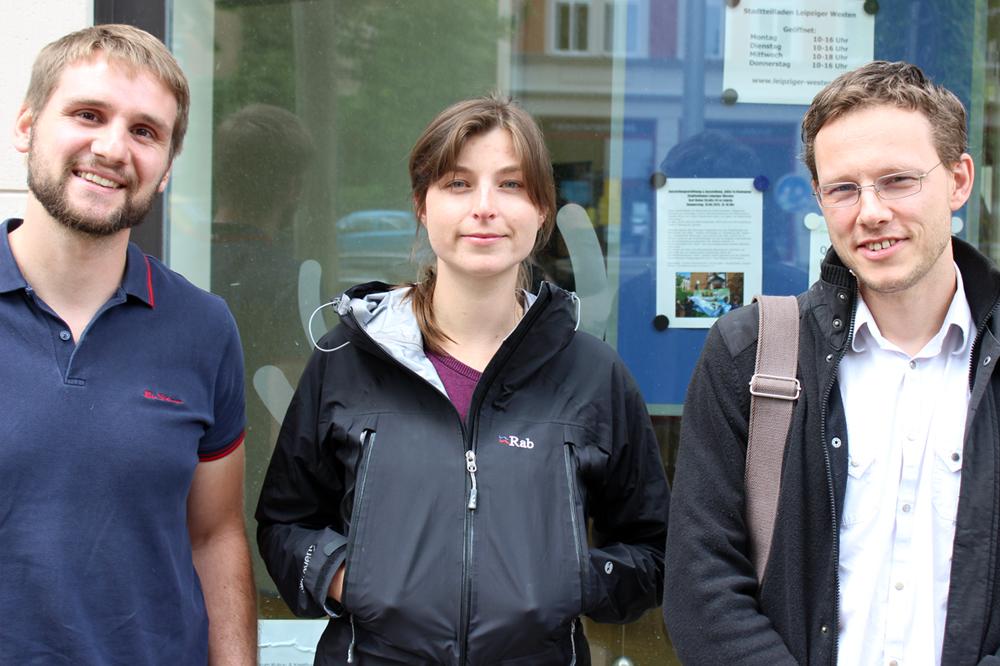 von links nach rechts: Ronny Krutzsch, Swantje Vondran, Christian Haendel. Foto: Volly Tanner
