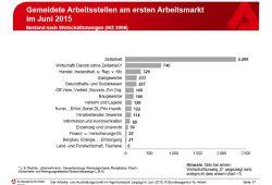 Die im Juni gemeldeten Arbeitsstellen. Grafik: Arbeitsagentur Leipzig