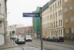 Ein trister Anblick: der aktuelle Zustand der Georg-Schwarz-Straße. Foto: Ralf Julke