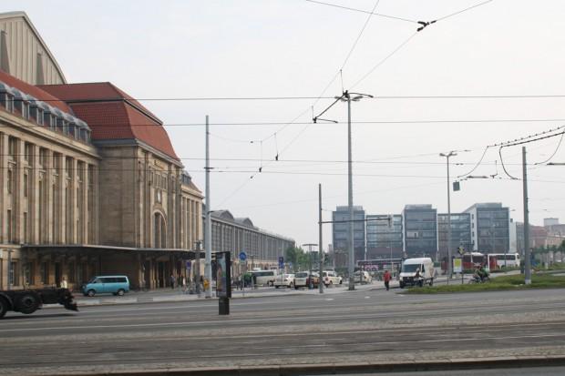 Hauptbahnhof-Ostseite: Hier sollen Hotels, Parkhaus und Fernbusbahnhof ihren Platz finden. Foto: Ralf Julke