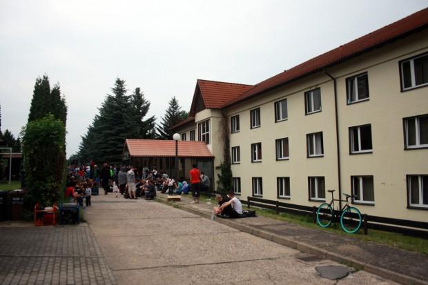 """Das Heim im ehemaligen Hotel """"Leonardo"""". Foto: Alexander Böhm"""