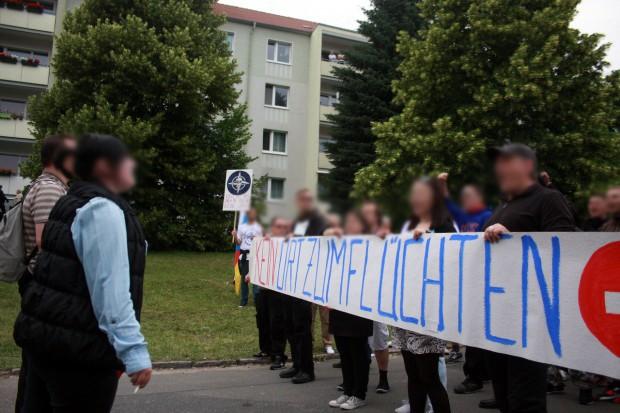 """""""Nein zum Heim""""-Kundgebung. Foto: Alexander Böhm"""