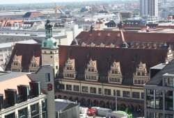 Altes Rathaus vom Turm der Thomaskirche aus. Foto: Ernst-Ulrich Kneitschel