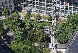 Blick zum Ring vom Turm der Thomaskirche aus. Foto: Ernst-Ulrich Kneitschel
