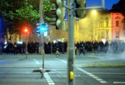In der Nacht des 5. Juni kracht es, eine Spontandemonstration ufert aus. Fotoquelle: indymedia / anonym