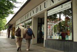 """Ausverkauft: """"Kü's Buchhandlung"""" an der Richard-Lehmann-Straße. Foto: Ralf Julke"""