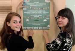 """Die Vorbereitung läuft: Verena Einwich (links) und Wiebke Pohl gehören zum Organisationsteam vom """"KUK! Festival"""", dem neuen Kunst- und Kulturfestival an der HTWK Leipzig. Foto: Mareike Trumpfheller / HTWK Leipzig"""