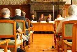 Bilanzpressekonferenz der LVV mit Volkmar Müller, Burkhard Jung und Norbert Menge (v.l.). Foto: Ralf Julke