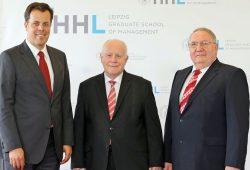 Kramerstiftung der HHL: vrnl: Prof Winfried Pinninghoff, Prof Dr Georg Milbradt, Dr Gerd Robertz. Foto: HHL