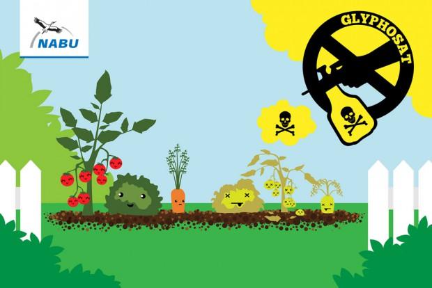NABU-Aktion gegen den Pflanzenkiller Glyphosat. Foto: NABU