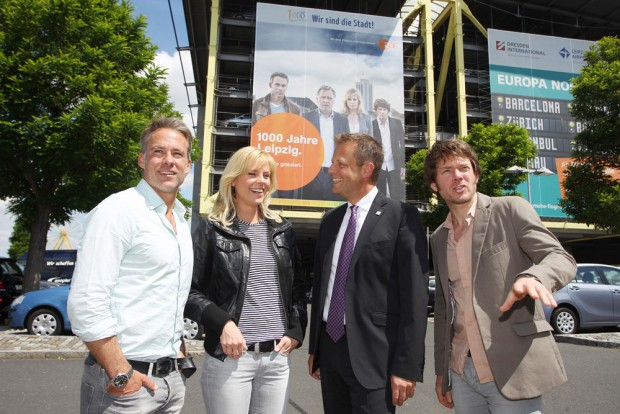 v.l. Marco Girnth, Melanie Marschke, Torsten Bonew, Steffen Schroeder. Foto: Sebastian Willnow