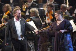 Daniel Kirch (Tannhäuser) und Christiane Libor (Elisabeth) begeisterten das Opern-Publikum. Foto: Tom Schulze