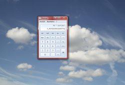 Nach der Schule reicht ein ganz normales Taschenrechner-Tool für den Alltag. Screenshot: L-IZ