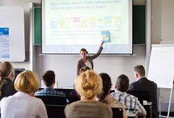 Vernetzung und Austausch über Fachgrenzen hinweg: Vortrag auf dem Tag der Wissenschaft 2014. Foto: Martin Ludewig