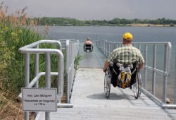 Der Kulkwitzer See hat jetzt eine Rampe. Foto: Stadt Markranstädt