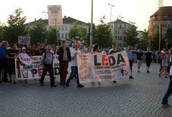 Legida & Pegida am 6. Juli 2015 auf dem Wagnerplatz. Foto: L-IZ.de