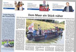 Leipziger Amtsblatt vom 11. Juli: Dem Meer ein Stück näher. Repro: L-IZ