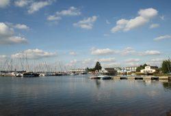 Hafen am Cospudener See: Das Neuseenland wird fast ausschließlich von Bewohnern der Region besucht. Foto: Ralf Julke
