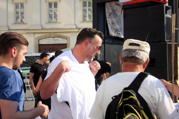 Lutz Bachmann bei einer Legida-Demo am 6. Juli 2015 in Leipzig. Foto: L-IZ.de