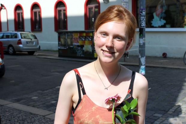 Foodsharing Leipzig Aktivistin Tina Da. Foto: Volly Tanner