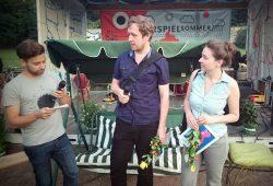 Melanie Albrecht und Michael Wehren der Leipziger Performance-Gruppe friendly fire. Foto: Hörspielsommer e.V.