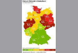 Eine Quatsch-Statistik vom Feinsten: Einbruchverteilung in Deutschland nach Generali. Grafik: Generali Deutschland