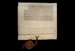 Die Gründungsurkunde der Medizinischen Fakultät Leipzig von 1415. Foto: Universitätsarchiv Leipzig
