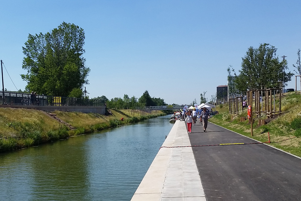 Promenade am neuen Kanalstück zum Lindenauer Hafen. Foto: Marko Hofmann