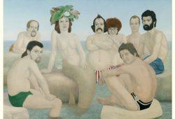 Erich Kissing: Leipziger am Meer. Foto: Museum der bildenden Künste Leipzig